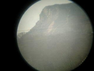 Roseberry Topping view from 50mm scope