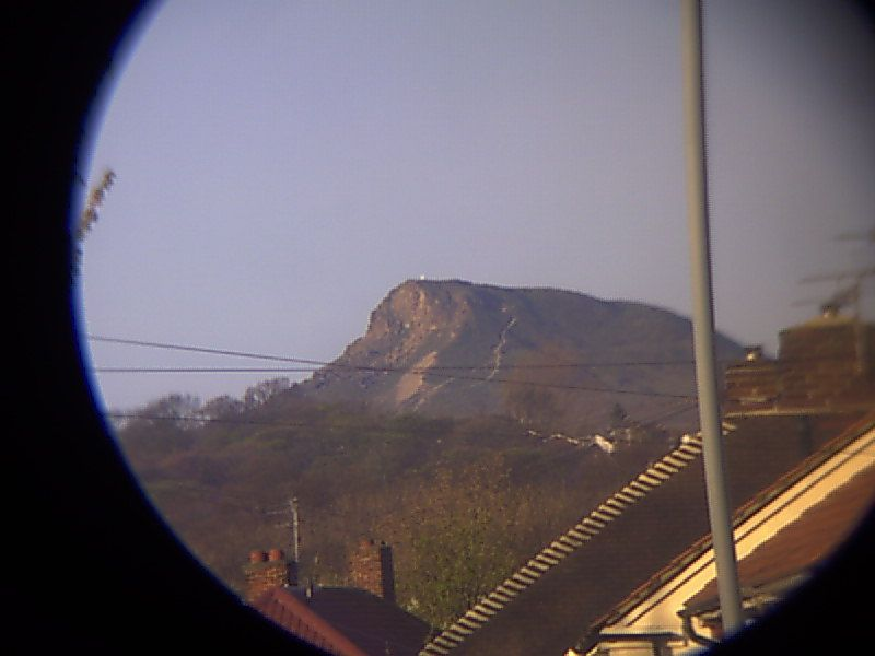 Scope view using 20mm lens with traveler dv 3010 camera