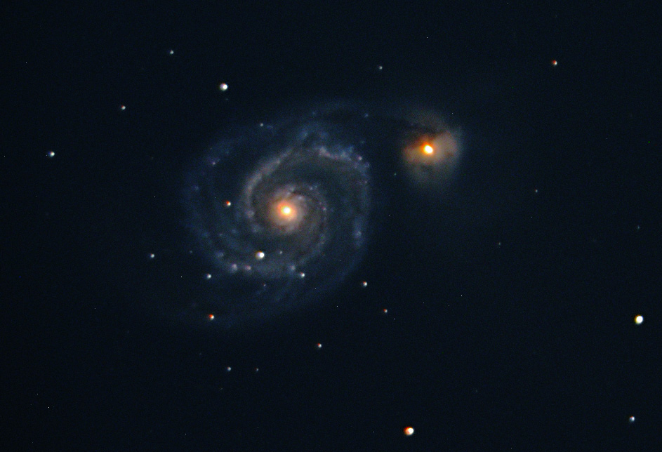 Working out the imaging system bugs using M51 as a target.