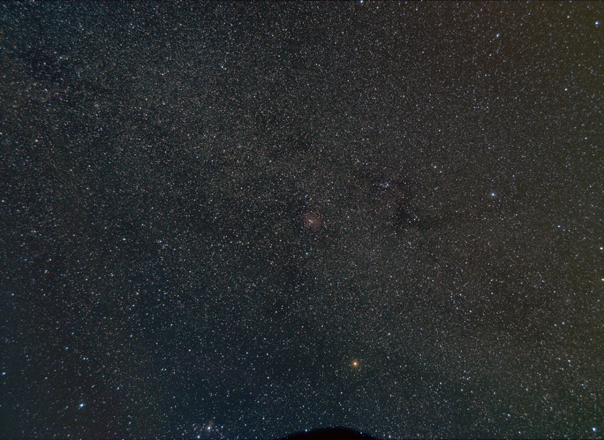 Rosette wide-field through Monoceros, taken by my friend John with a piggybacked Nikon D7000. 7x5min.