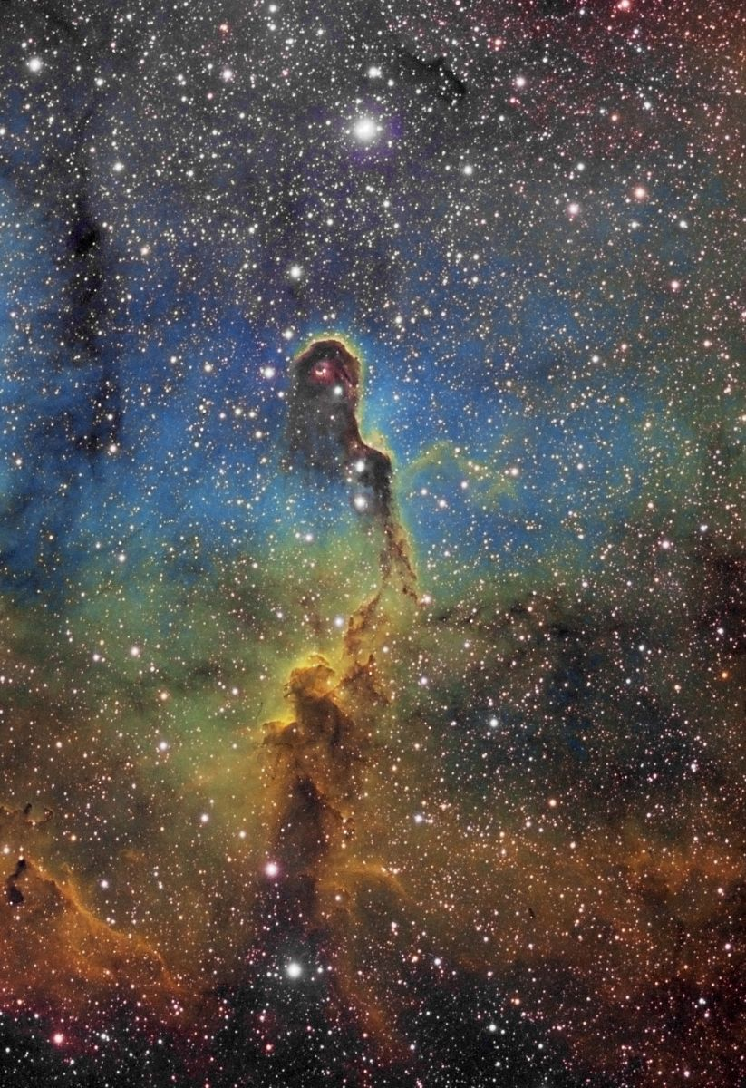 LDN1105 V2 (Elephants Trunk nebula, part of IC 1396 - HST Palette)