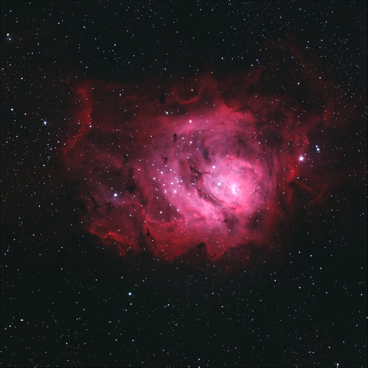 Lagoon Nebula, with the focal reducer.