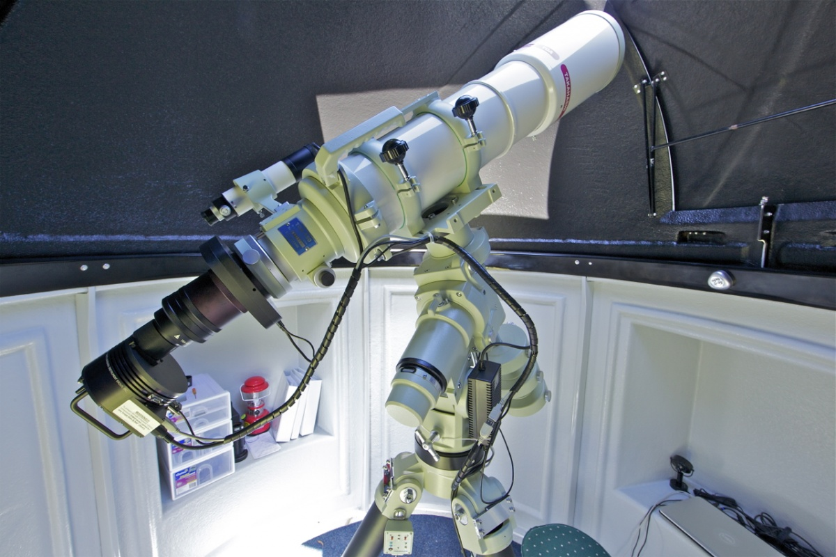 The TOA-150B with the astrophotography setup.