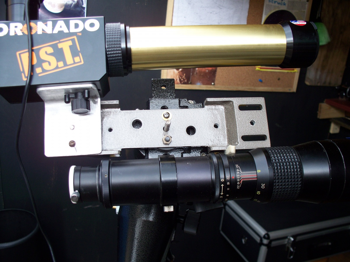 Close up of the Solar Observing set up