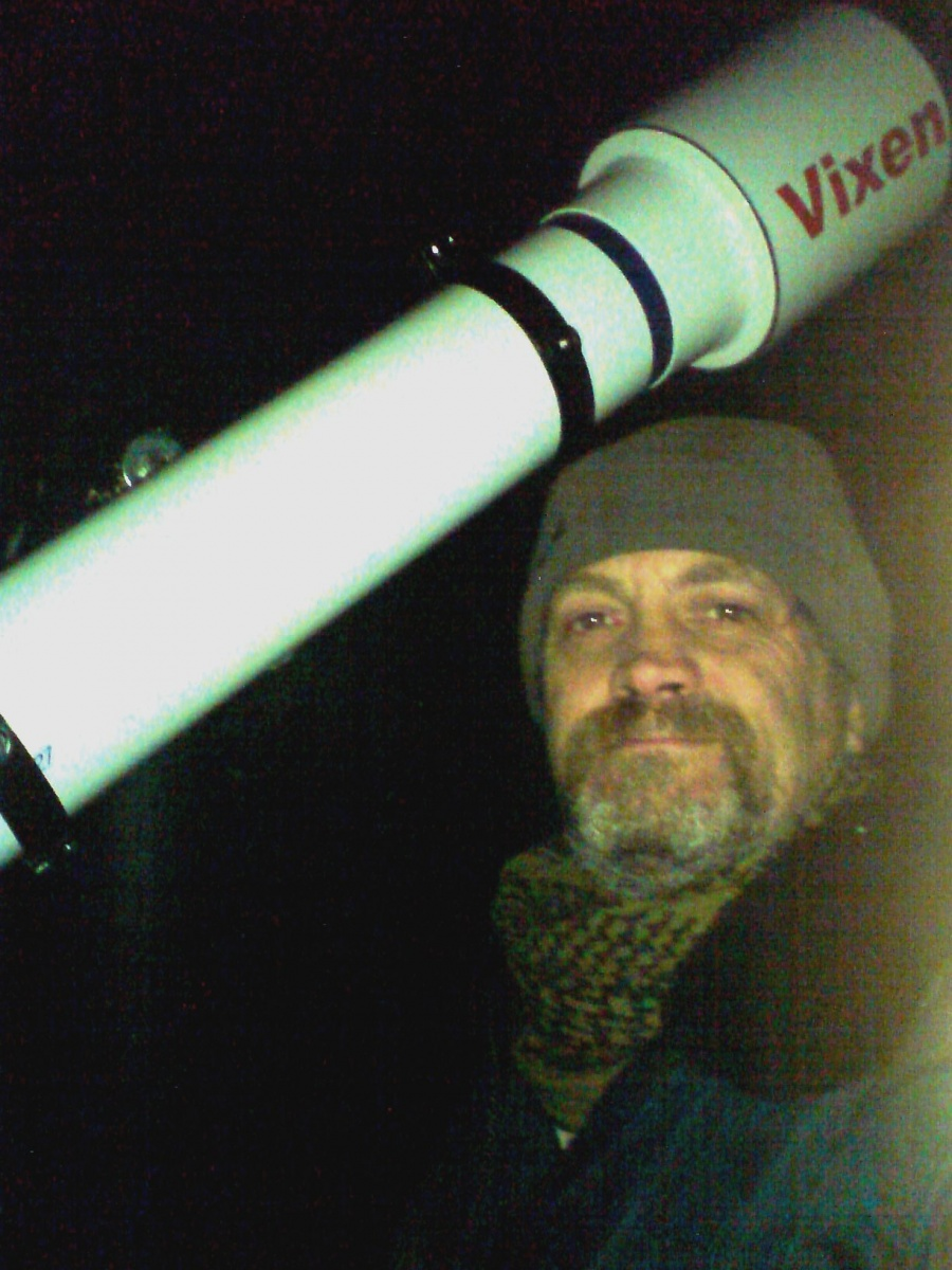 Out Observing Jupiter using the 127mm Vixen August 2011