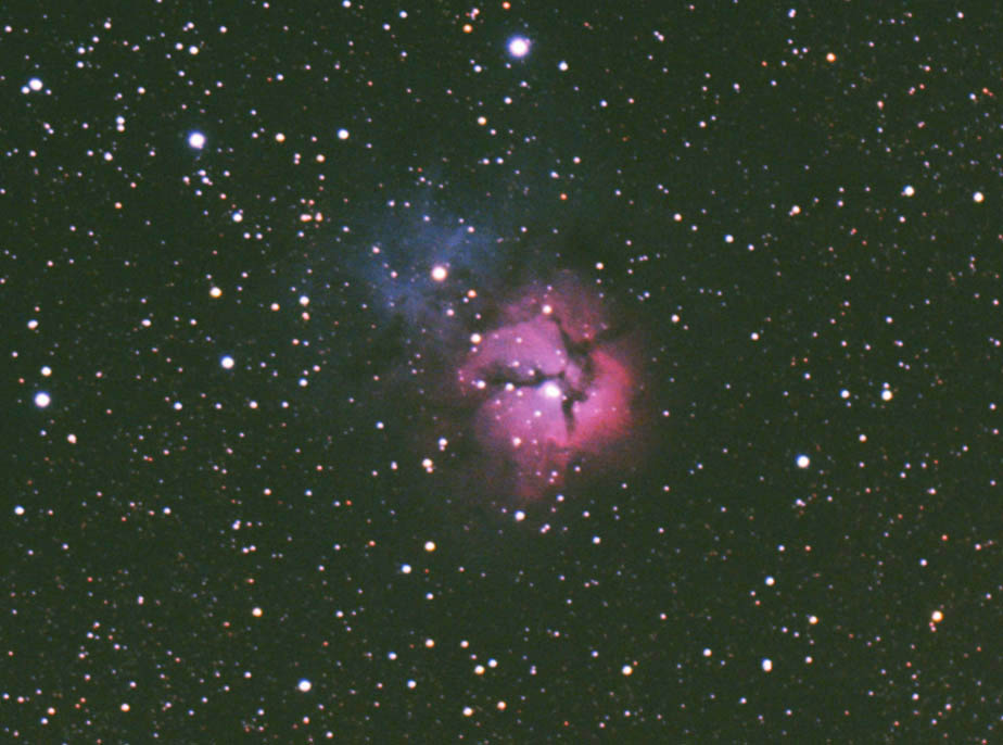 M20 Trifid Nebula Blacklands 10 x 2mins 2 6 11 Crop re process2
