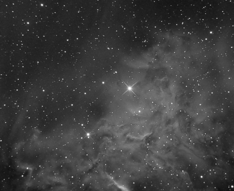 IC405. 220 minutes Ha in 5 minute subs. Flats and darks applied.