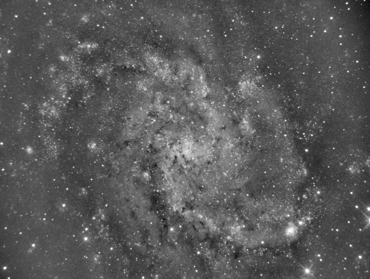 Close up of M33.  