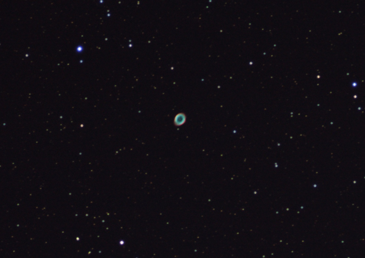 M57 5-4-2012 tracking not working, out of focus. First clearish night for weeks.