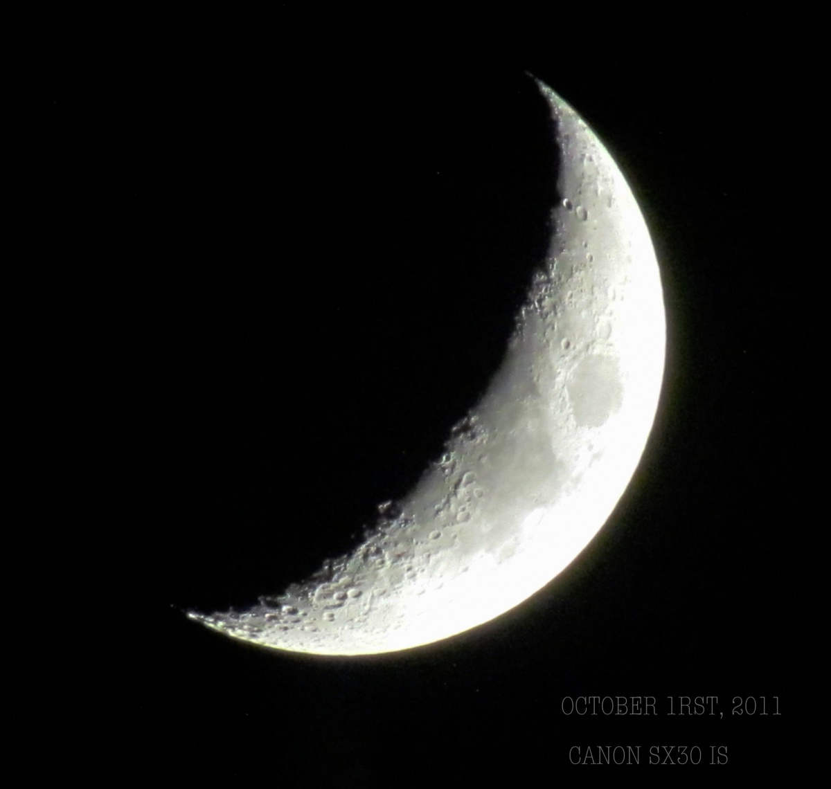 Moon with SX30 IS