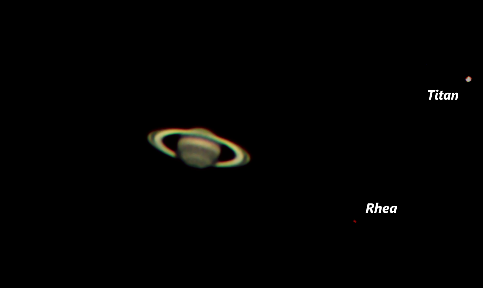 Saturn with Two Moons (an)