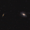 M81 M82 Mosaic with 1h40 Ha added