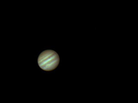 "Jupiter May 2009, Phillips SPC900 webcam, Skywatcher 8"" F/6 Newtonian."