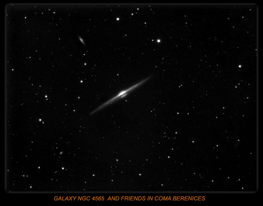 GALAXY NGC 4565 IN COMA BERENICES