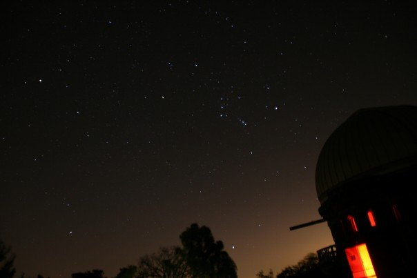 "41"" Dome at yerkes and Orion and Sirius with a bit of Monoceros and Canis Minor"