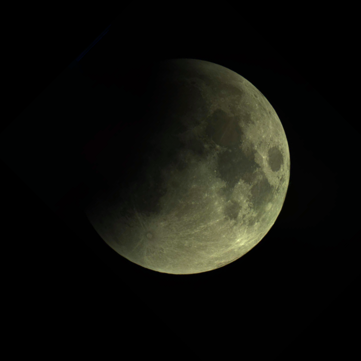 Penumbral stage of Total Lunar Eclipse 28092015