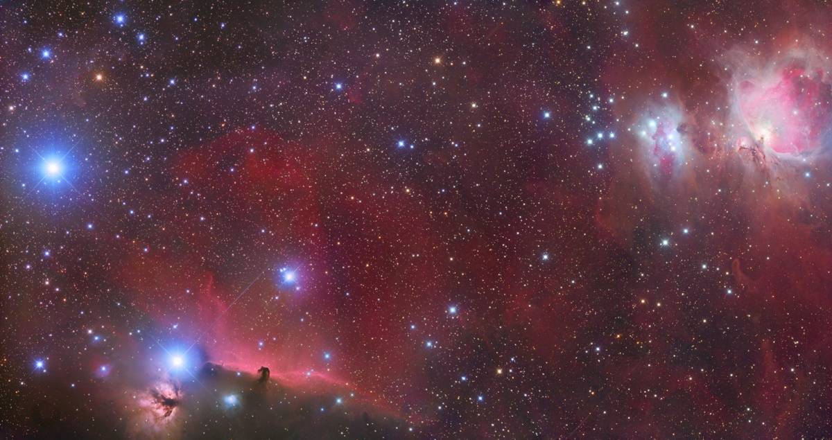 POW 17-01-2011 Horse Head, Flame and Great Orion Nebula by Peter Shah
