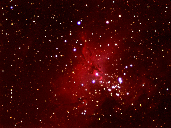M16 L Ha G B 2nd attempt, best images only. Lower bias for luminance frames (50%)