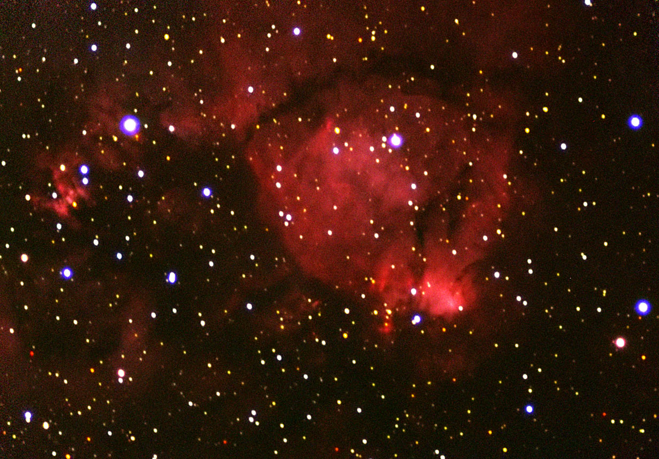 NGC0896 LRGB (adjacent to Heart Nebula in Cas.)