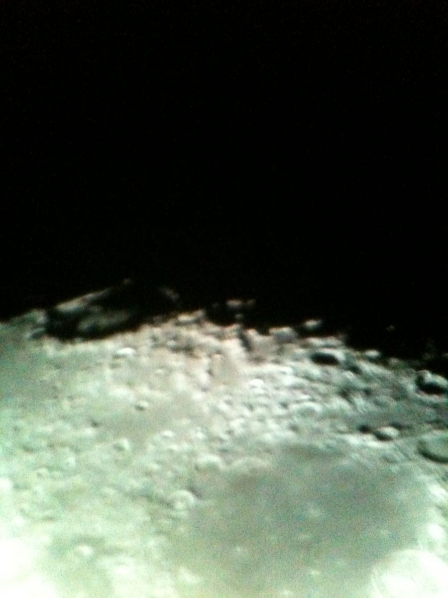 2nd Close up of Crater on Moon