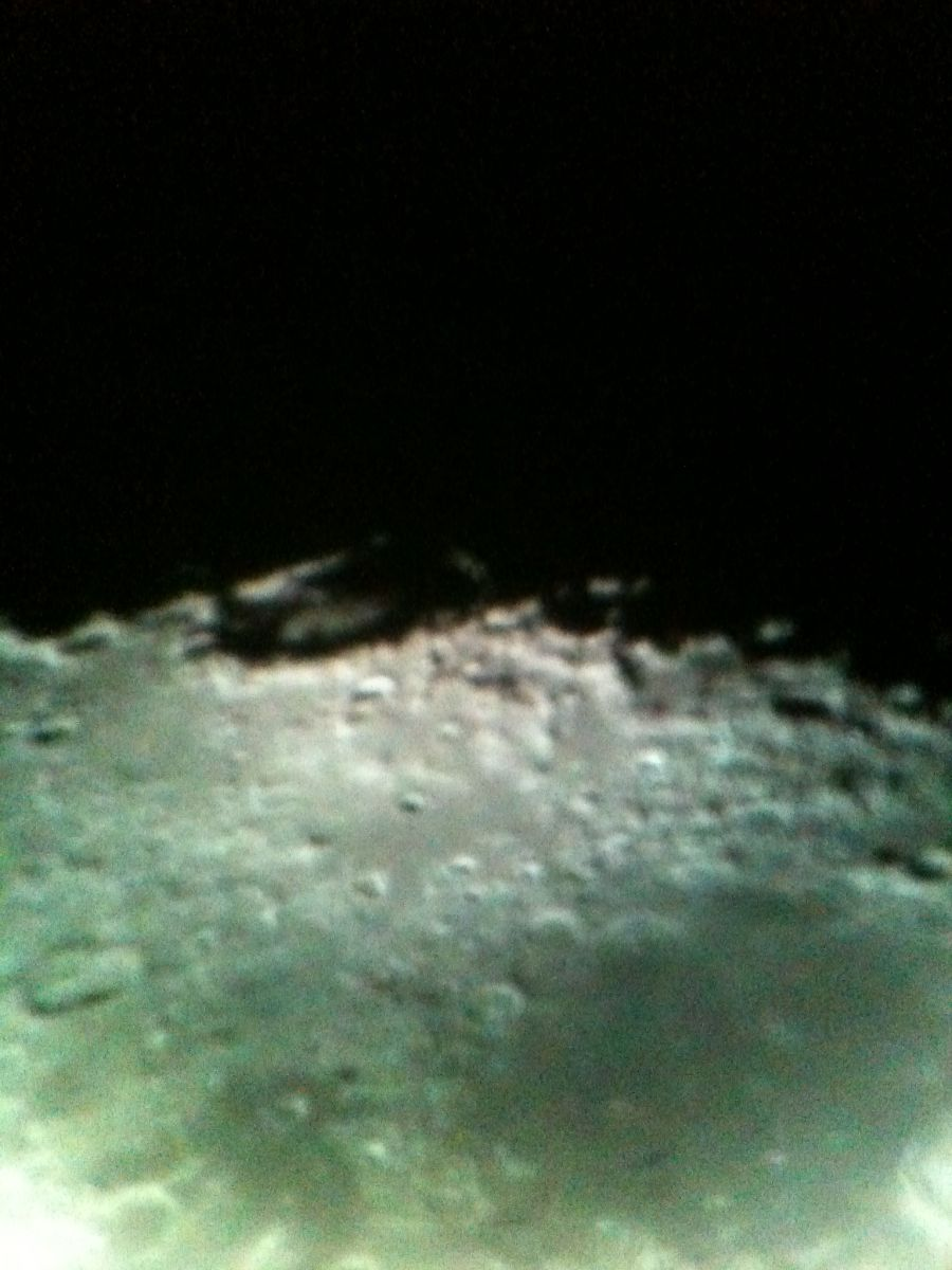 Close up of Crater on Moon