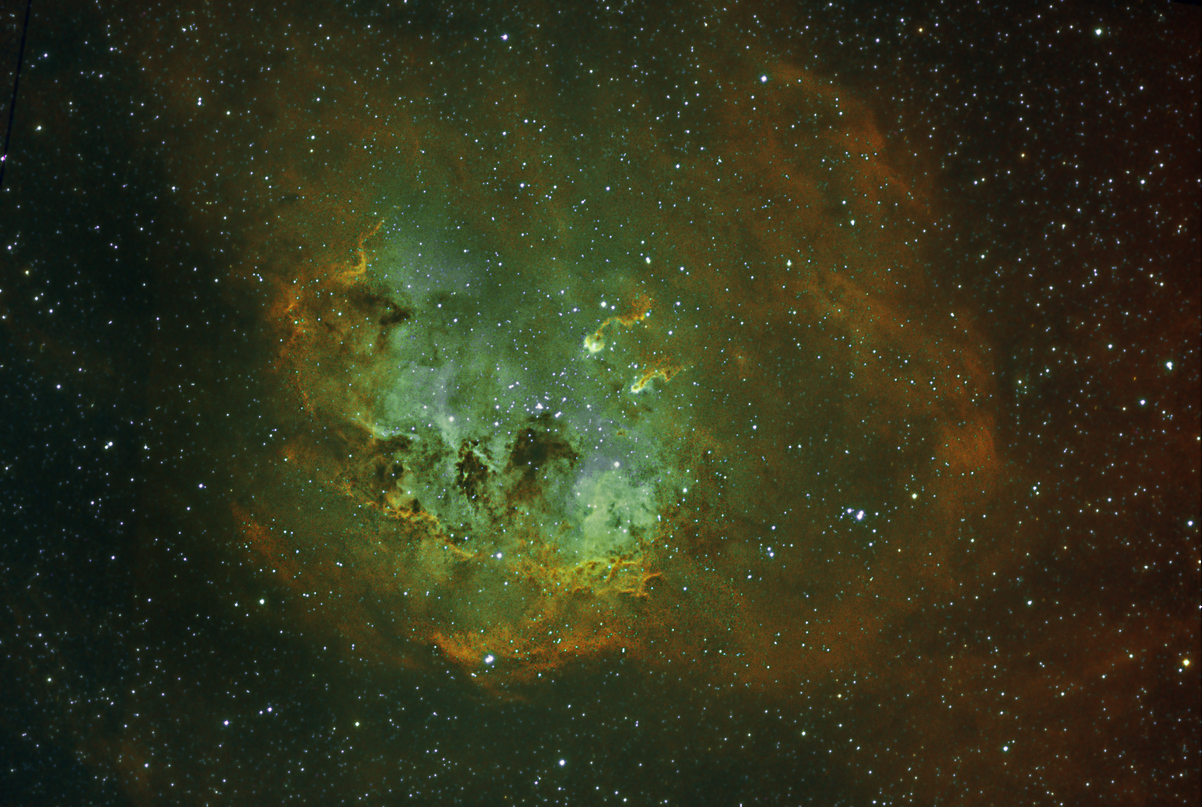 IC410 sharpened with a selective high pass filter