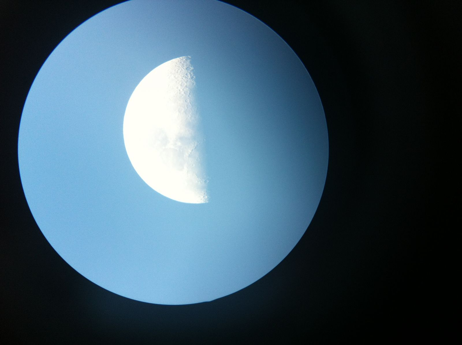"""25mm eyepiece with 4.5"""" Omegon telescope"""
