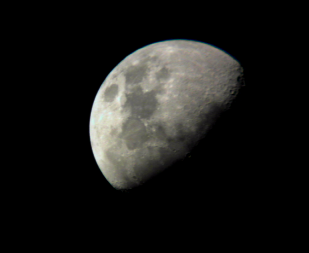 Moon with webcam