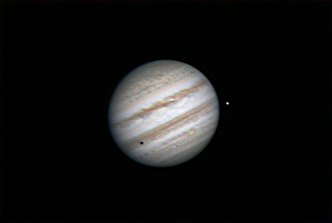 Jupiter with Europa shadow transit 7.4.2014
