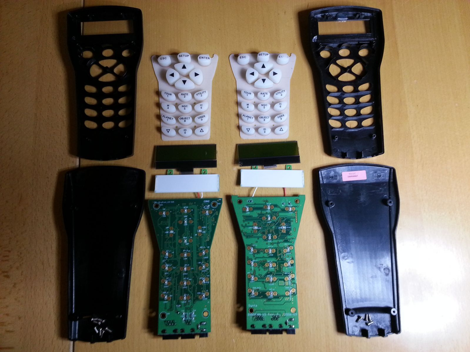 Exploded view Comparison of controllers