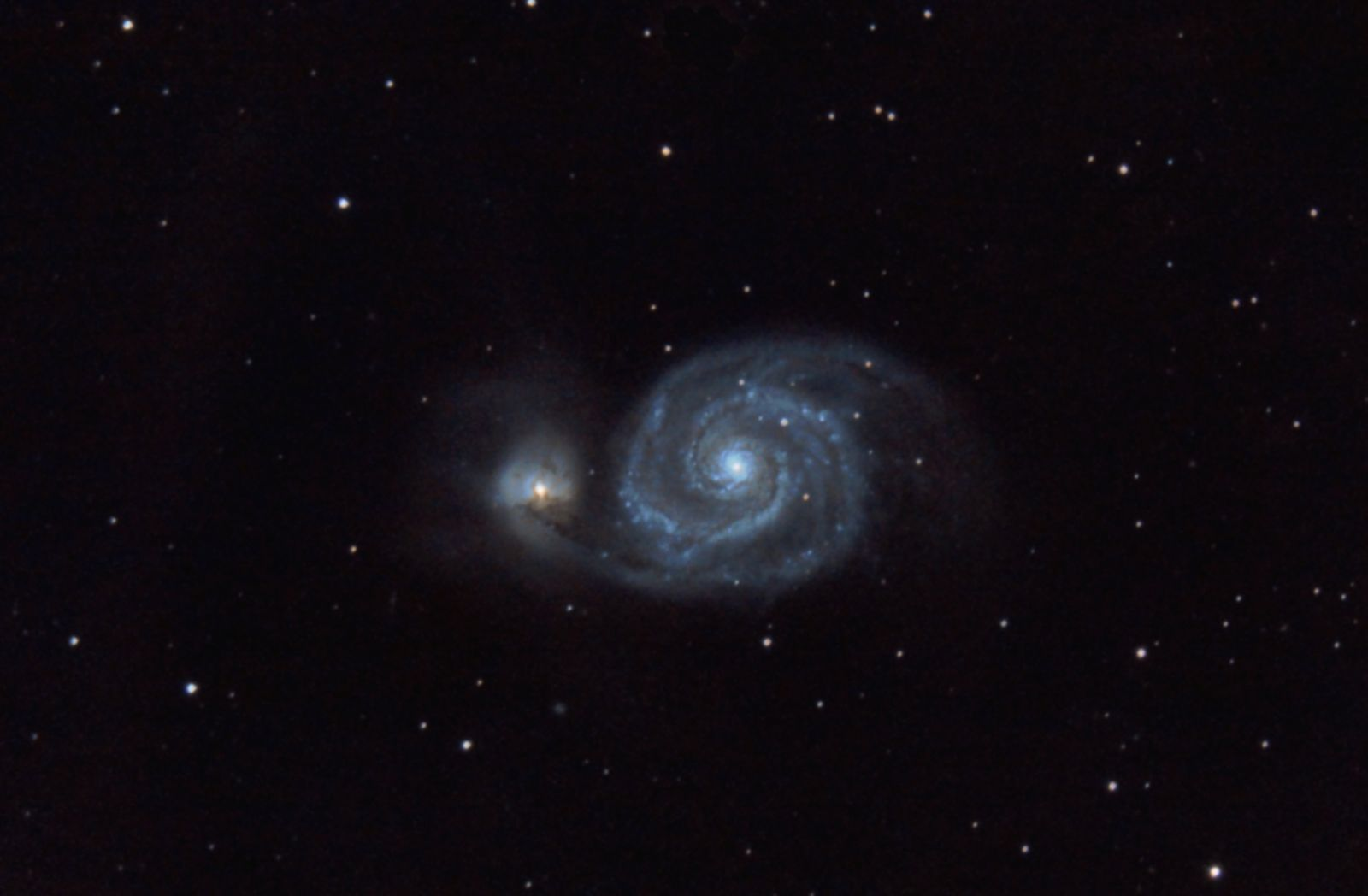 M51, the Whirlpool Galaxy  (cropped)