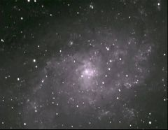 M33, spiral galaxy In Triangulum, One 30 min. exposure