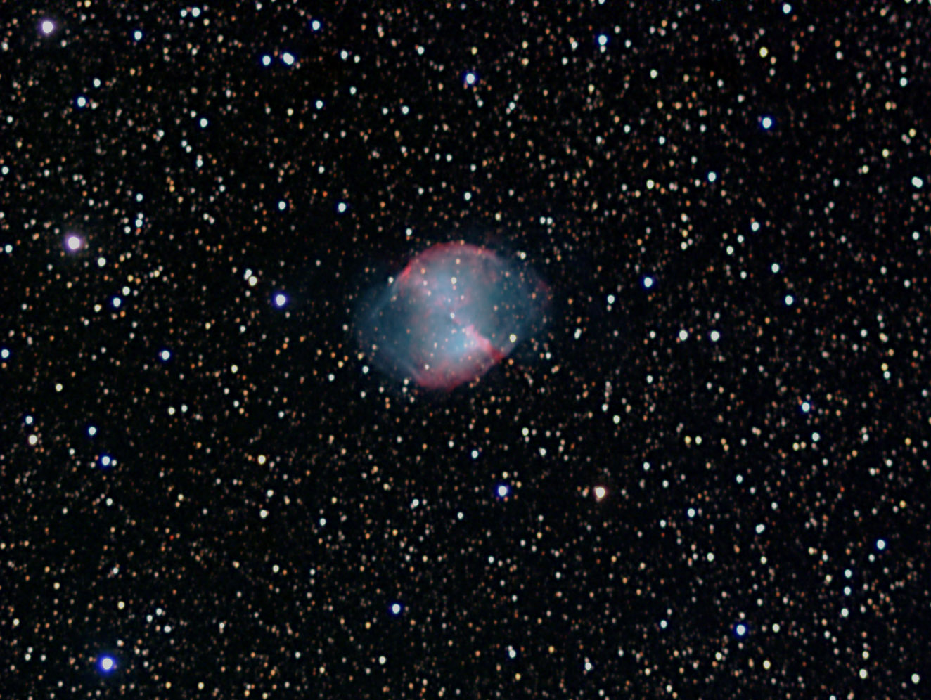M27 Dumbell nebula   SuperStar LRGB 2013 07   PS croppped, processed
