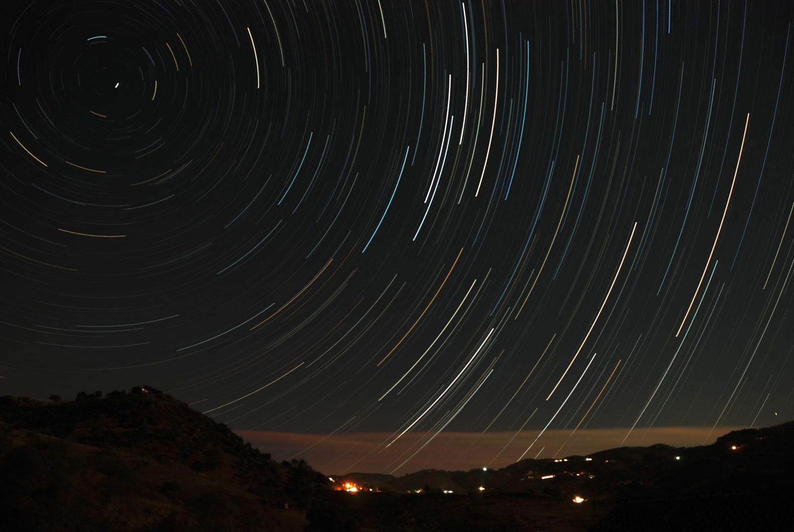 Star trails over Arroyo Coche