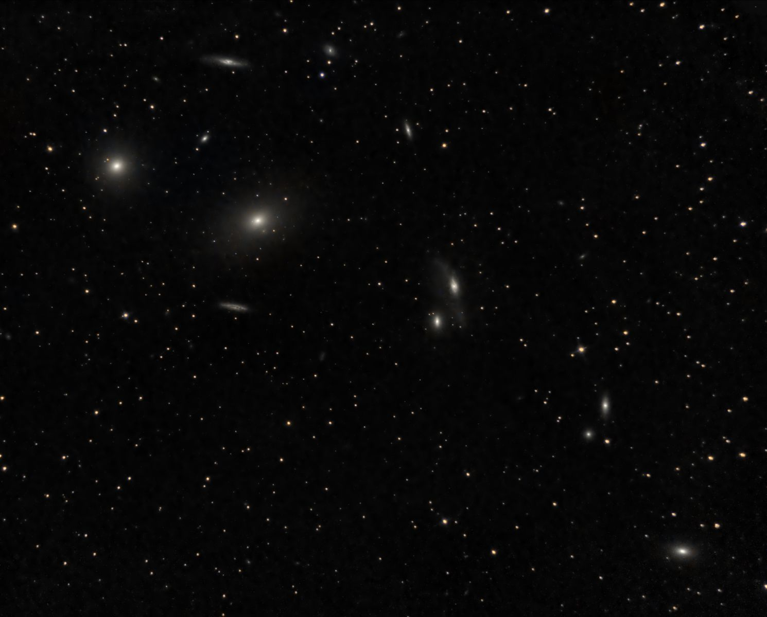 Markarian's chain of galaxies in the Virgo cluster