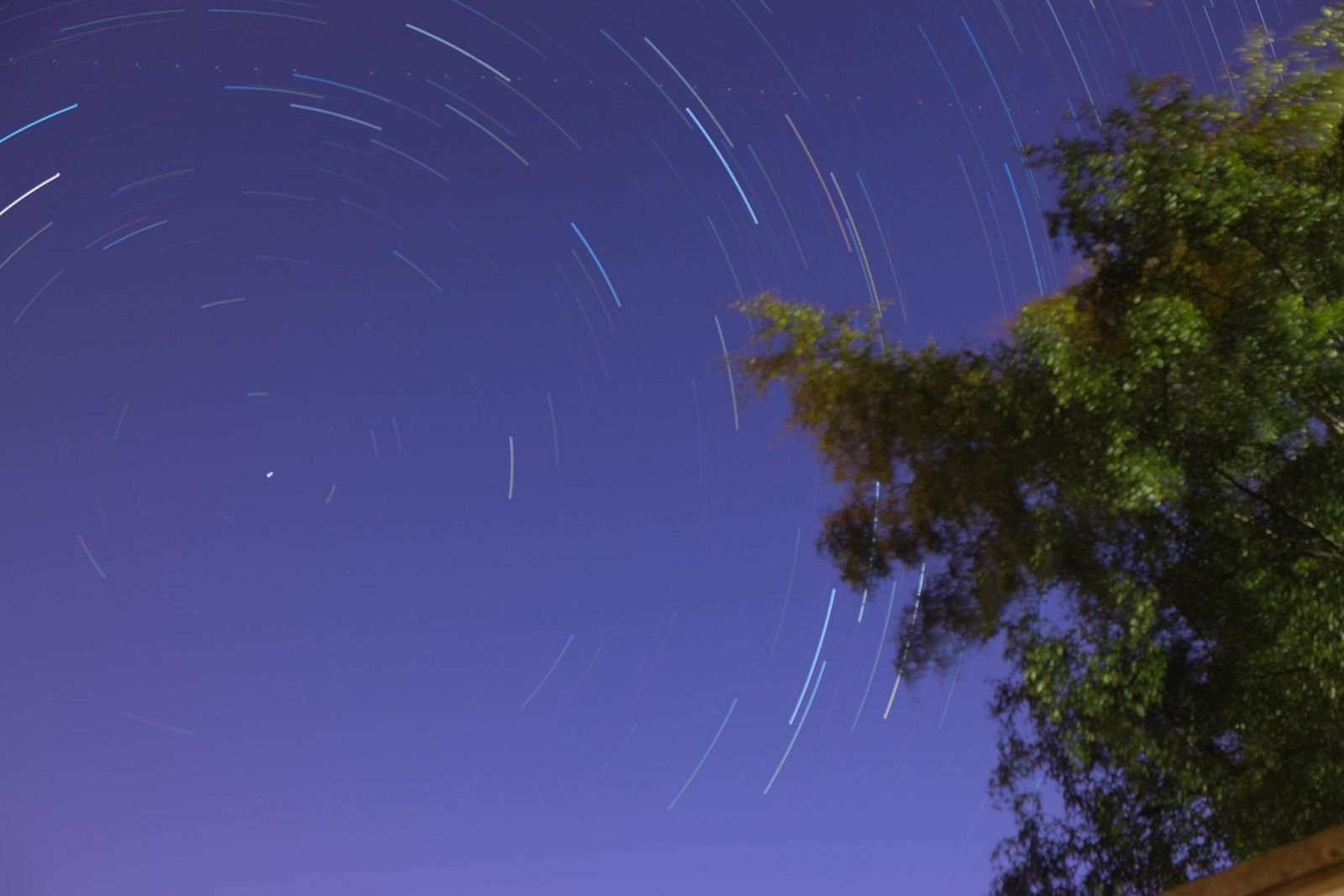 Star trail at the back of my house