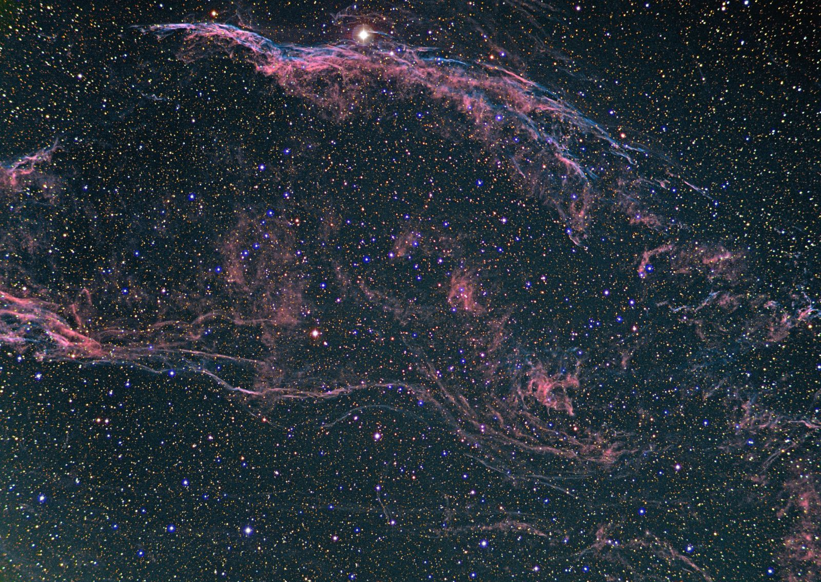 The Veil Nebula in HaRGB