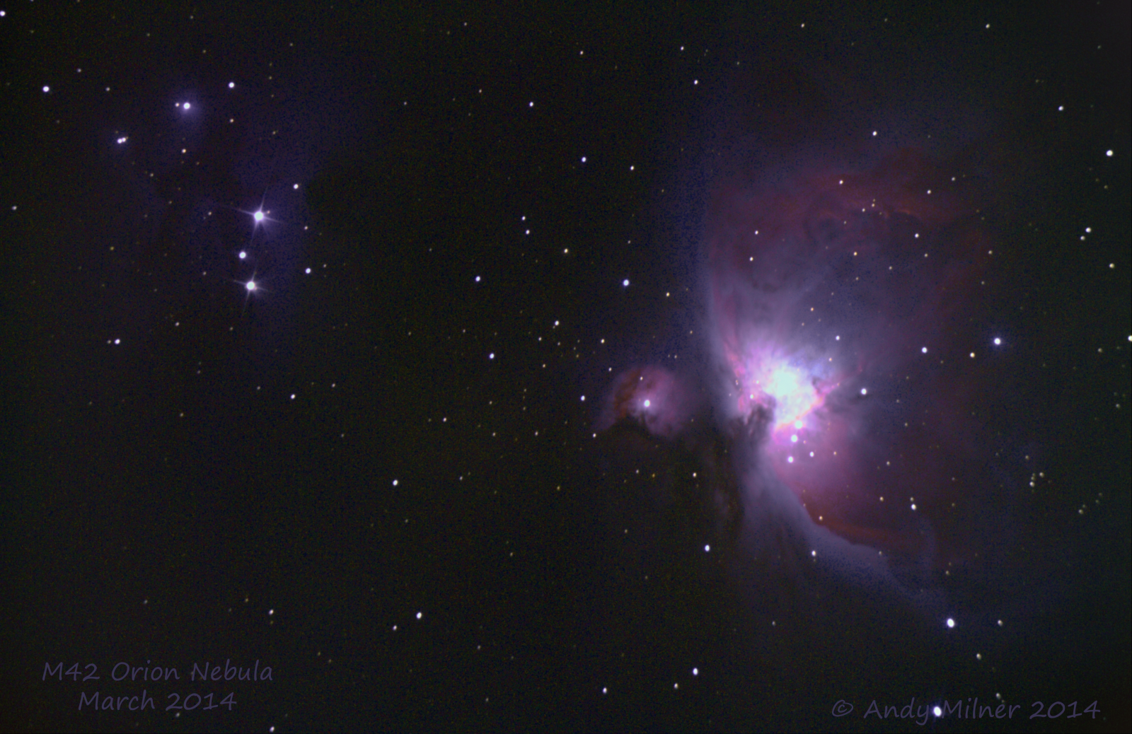 Re process of M42 Orion Nebula with Core Subs