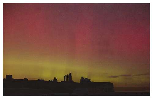 Aurora over The Priory, South Shields