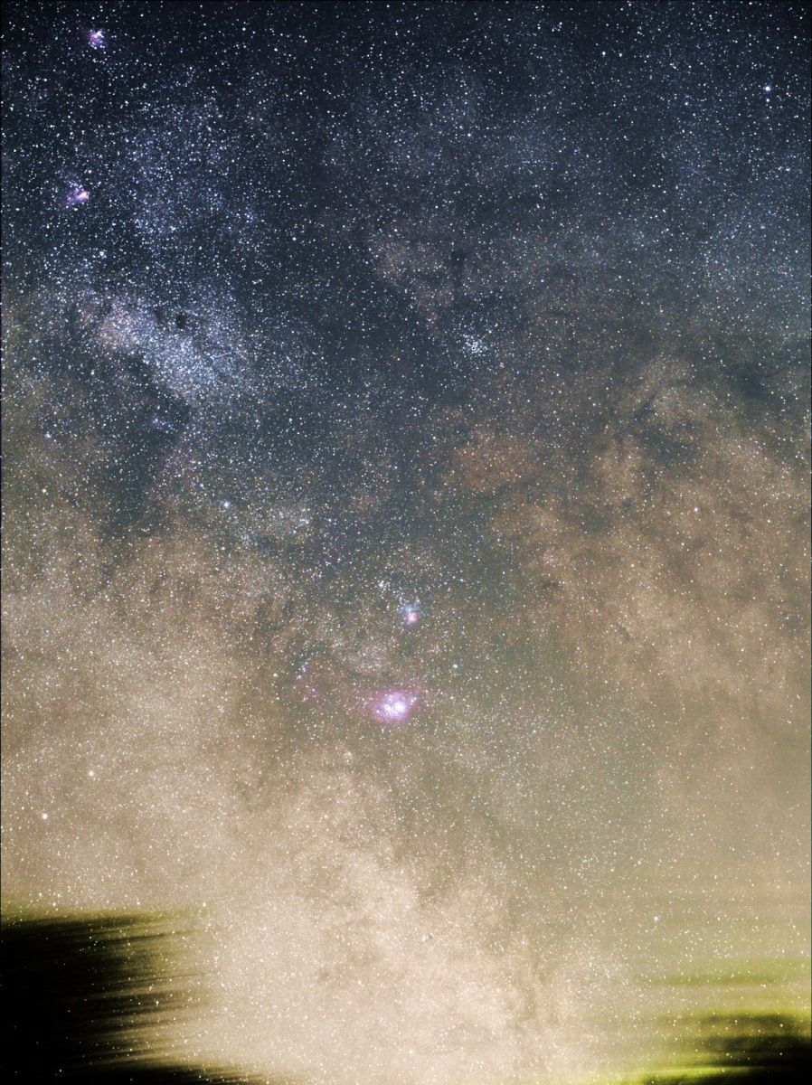 Milky Way rising south, 24 Min stack, 17 frames cropped