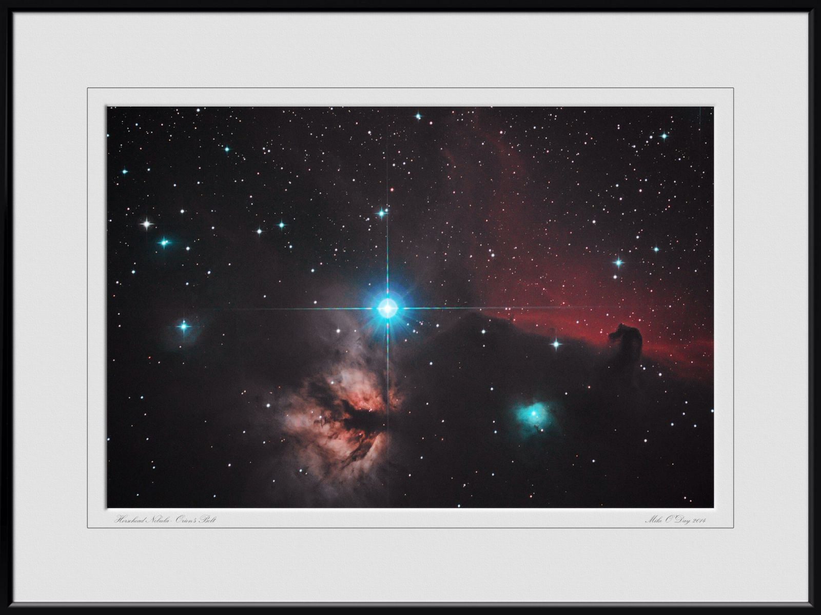 Alnitak, Flame and Horsehead nebula