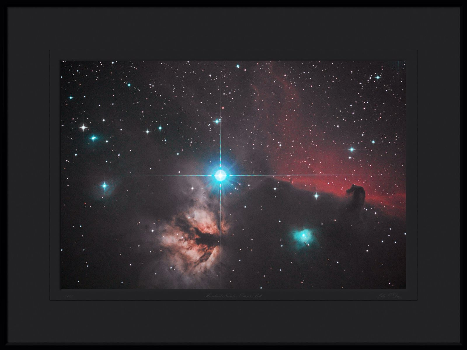 Alnitak on Orion's Belt with the Flame and Horsehead nebulae