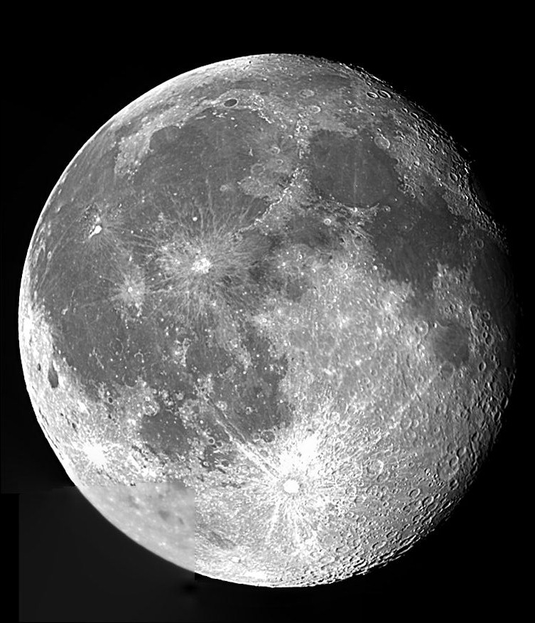 Moon composite with Meade 5000 ED80