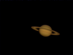 "saturn 0040: Saturn, shot with Philips TOUCAM-III-pro, using 8"" F/10 SCT, f/30 shot using Meade series 5000 TeleXtender 3x