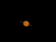 saturn 0001a: Saturn with my Celestron GP-C8, Meade TeleXtender 2x, with SPC900. Approx 1000 frames at 10fps, Sunday, May 23, at 23:20 CET