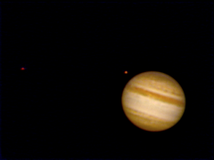 Jupiter 21 September 2010, 21:14 UT, together with  Europa and Ganymede. SPC900NC, Meade 2x TeleXtender, GP-C8