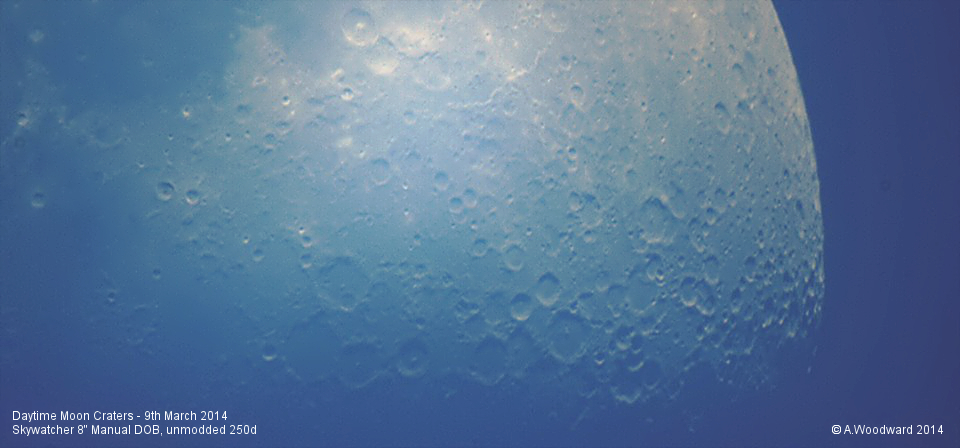 Day Moon Craters