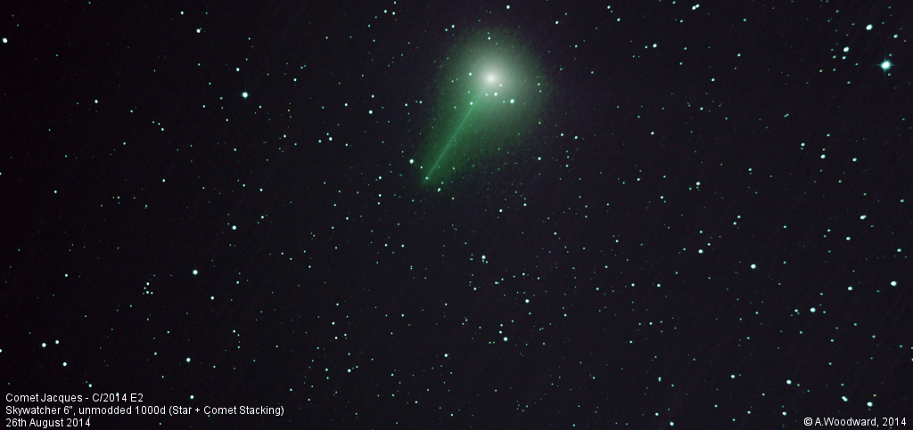 Comet Jacques (star and comet stacking)