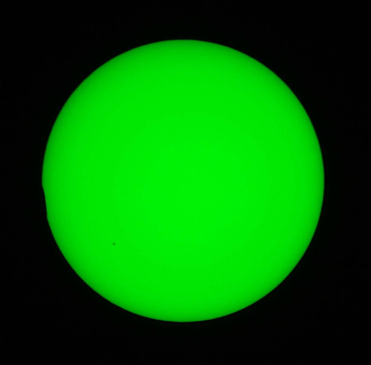 Partial Solar Eclipse from Madley - almost gone