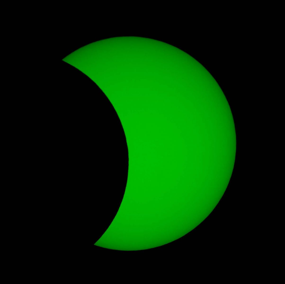 Partial Solar Eclipse from Madley